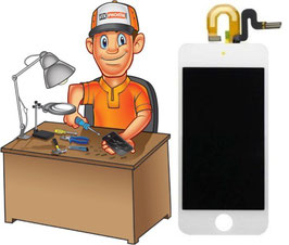 Service remplacement vitre tactile + Ecran LCD iPod Touch 5 ou 6