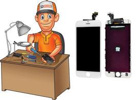 Service réparation vitre tactile + écran LCD iPhone SE