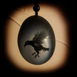 "Osterei - Motiv ""Raven"""