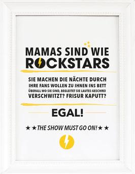 "Kunstdruck ""Mamas sind wie Rockstars!"""