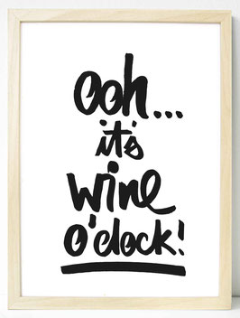 "Kunstdruck ""it's wine o'clock"""