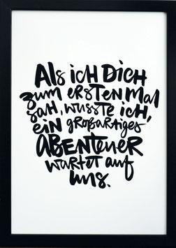 """Kunstdruck """"unser Abenteuer"""""""
