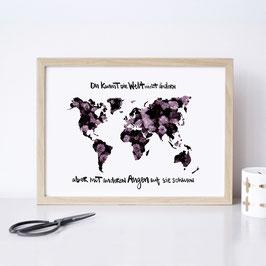 """Kunstdruck """"Du kannst die Welt nicht ändern, aber mit anderen Augen auf sie schauen"""""""