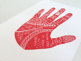 "Kunstdruck ""Happy Hand"""