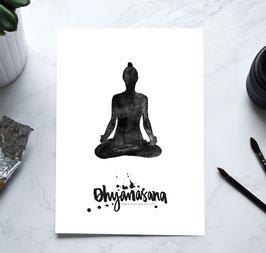 YOGA Print - Meditationssitz / Dhyanasana