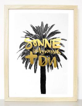"""Kunstdruck """"Sonne, Salzwasser + DU"""""""
