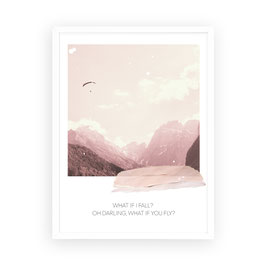 """Kunstdruck """"what if I fall? Oh darling, what if you fly?"""""""