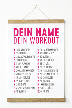 "Kunstdruck ""Dein Name - dein Workout"""
