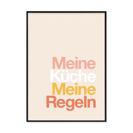 """Kunstdruck """"Meine Küche, Meine Regeln"""""""