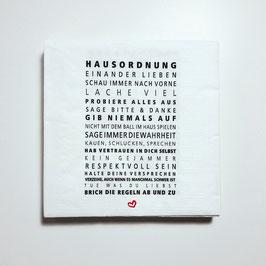 """Papier-Servietten """"Hausordnung"""""""
