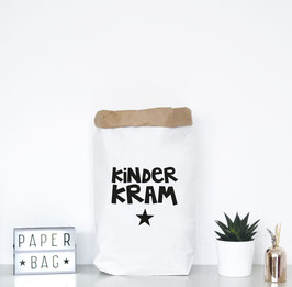 "Paperbag mir Schriftzug ""Kinderkram"""