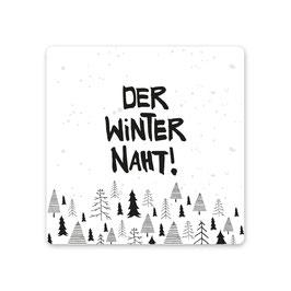 """2er Pack Untersetzer """"Der Winter naht"""""""