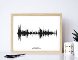 "Kunstdruck ""Dein Lieblingssong"" / ""Heartbeat""- individualisierbar"