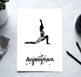 YOGA Print - Halbmond / Anjaneyasana