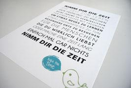 """Kunstdruck """"Nimm Dir die Zeit..."""""""