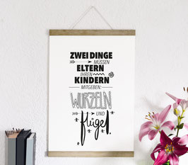 """Kunstdruck """"Wurzeln und Flügel"""""""