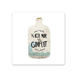 """2er Pack Untersetzer """"nach mir die Ginflut"""""""