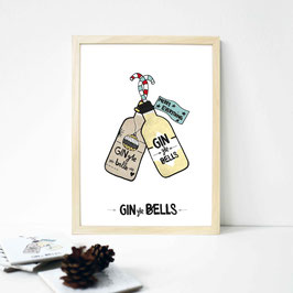 "Kunstdruck ""GINgle Bells"""