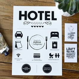 """Kunstdruck """"HOTEL Mama"""" - individualisierbar mit deinem Familiennamen"""