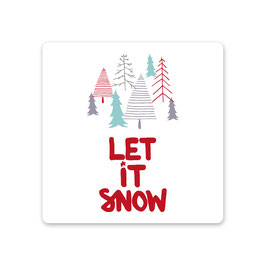 "2er Pack Untersetzer ""let it snow"""