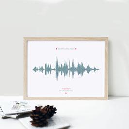 """Kunstdruck """"Weihnachtstonspur"""""""