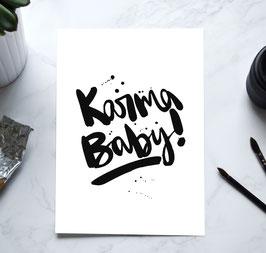 """Kunstdruck """"Karma Baby"""""""