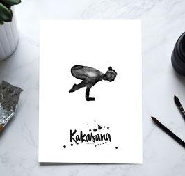 YOGA Asanas Print -Krähe / Kakasana