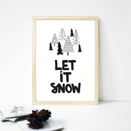 "Kunstdruck ""let it snow"""