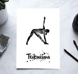 YOGA Print - Dreieck Trikonasana