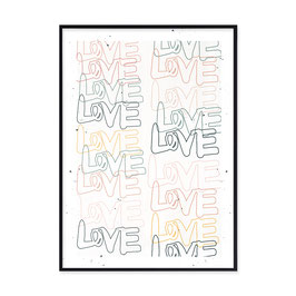 "Kunstdruck  ""love love love"""