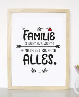 """Kunstdruck """"Familie ist nicht wichtig, Familie ist alles!"""""""