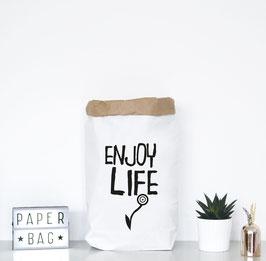 """Paperbag mir Schriftzug """"enjoy life"""""""