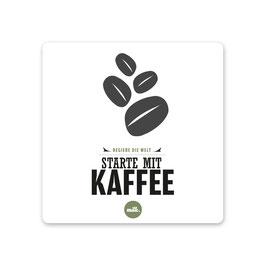 """2er Pack Untersetzer """"regiere die Welt, starte mit Kaffee"""""""