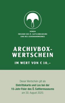 ARCHIVBOX-WERTSCHEIN