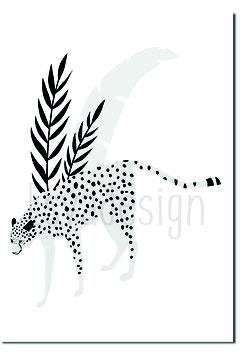 A4 poster Luipaard