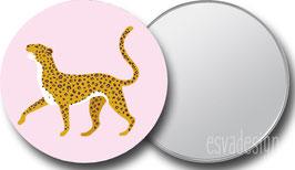 Spiegeltje Leopard roze trots