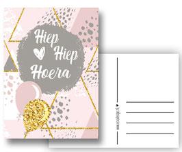 H H  Hoera roze