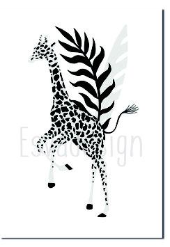 A4 poster Giraffe