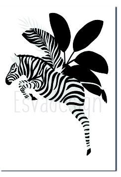 A4 poster zebra