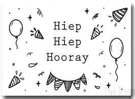 Sticker Hiep Hiep Hooray