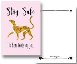 Leopard Stay save roze