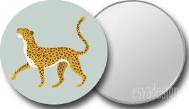 Spiegeltje Leopard groen trots