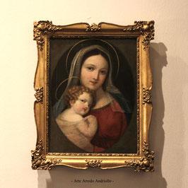 Vergine con il Bambino - dipinto religioso di scuola emiliana