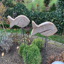 Fisch auf Metallstab