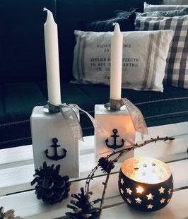Kerzenständer Weiß
