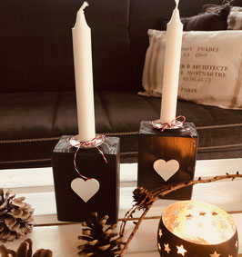 Kerzenständer Anthrazit