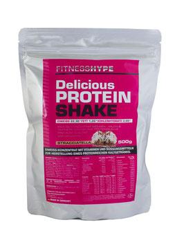 Fitnesshype Eiweißshake für Frauen - 500g Beutel - Inklusiv Pink Shaker