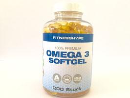 Omega 3 - Fischöl Kapseln - 200 Kapseln