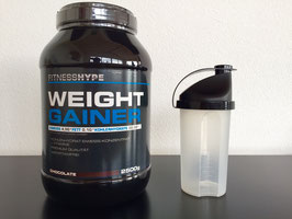 Fitnesshype 2500g Weight Gainer inklusiv Gratis Shaker