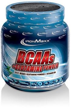 IronMaxx Bcaas + Glutamine Powder - 550g Dose